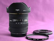 Sigma EX 10-20mm f/3.5 HSM DC Lens Canon with hood, UV filter, both caps 1802E
