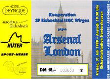Billet: sf eisbachtal/egc Wirges Kooperation v. arsenal 31/7/1998 amical