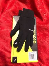 HEAD RUNNING GLOVES XS DIGITAL TOUCHSCREEN COMPATIBLE SILICONE PALM B31 #165D213