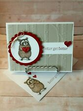 Stampin up- Sweet Raccoon Wishes- Handcrafted- Card Kit-Set of 4*