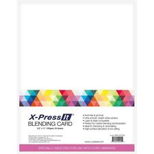 "X-PRESS IT BLENDING CARD-8.5x11"" White Cardstock-25/pk-COPIC-Stamping-Paper"