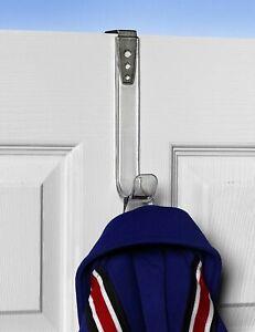 SPECTRUM Adjustable Bracket Over The door Hook - Clear Plastic