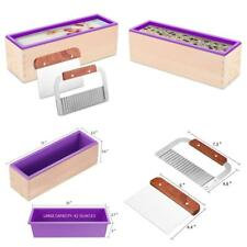 Zytj Silicone Soap Molds Kit Kit-42 Oz Flexible Rectangular Loaf Comes With Wood