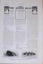 1903 Imprimé Rois-Mages Menu Recette Genoese Paniers