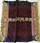 India Gujarat Ceremonial Batik Textile w/ Embroidery & Mirror Decor ca. 20th c.