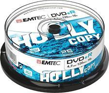 1x25 EMTEC DVD+R Rohlinge 4.7GB 16x Cakebox ECOVPR472516CB NEU (world*) 008-312°