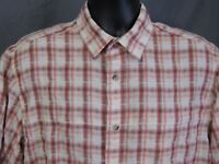 Woolrich Shirt Large Plaid Short Sleeve Outdoors
