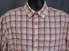 Woolrich Shirt Large Plaid Short Sleeve Outdoors