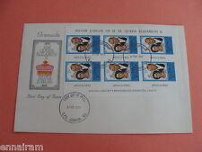 Queen Elizabeth II Silver Jubilee FDC 25 Coronation Grenada 1977 #2