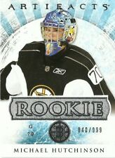 2012-13 Upper Deck Artifacts Michael Hutchinson Rookie Rc /999