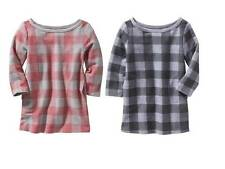 NWT Old Navy Girls Buffalo-Plaid Dress 12-18 18-24 2T 3T 4T Gray or Red $20