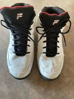 Fila Men's Basketball Sneakers Size 13 White Black Red Style 1SB13023-113