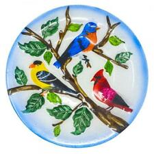 New listing Songbird Essential Gorgeous Songbird Trio Textured Glass Birdbath Only Se5005