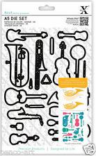 23pc Xcut die set Musical Instrument Music dies Guitar Saxophone Violin Trombone
