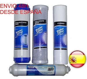 Repuesto Juego 4 Filtros de recambio Osmosis Inversa