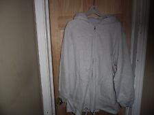 New Women's gray fleece jacket with hood 1X zip front all weather jacket