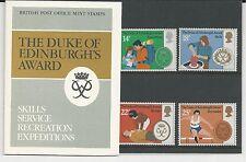 Great Britain, # 952-955 British Po Mint Stamps-Duke Of Edinburgh'S Award