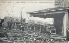 Postcard Nebraska Ne Omaha Tornado March 1913 Looking South on 19th Ave & Locust