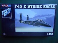 ARMOUR 1/100 MACKIT KIT METAL  AVION F-15 E STRIKE EAGLE  MINT BOX