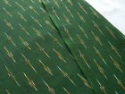 Ikat Cotton Fabric Green Hand-Woven Hand-Dyed Homespun By the Yard