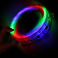 Sensory Led Round Light Up Flashing Tambourine Shaking Sensory Toy