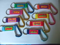 Personalised Carabiner Clip Keyring by John Hinde - Names M to Z