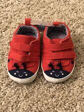 Carter'S Baby Girls Nwt Red Blue Ladybug Hook Eye Closure Shoes 3-6mo