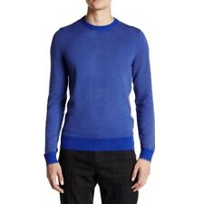 Hugo Boss Mens Sweater Slim Fit Cotton Wool Blue Ervino Crewneck Pullover 2XL