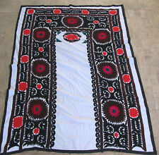UZBEK SILK HAND EMBROIDERED SUZANI JOYPYSH # 8472