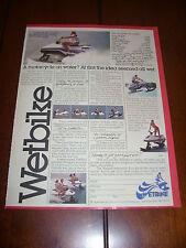1978 WETBIKE   ***ORIGINAL AD***
