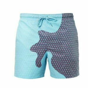 Dry Plaid Summer Color-Changing Beach Shorts Men Shorts Swim Pants Board Shorts
