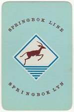 Playing Cards 1 Swap Card - Old Vintage SPRINGBOK LINE LYN Shipping Advertising