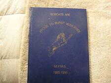 1985-86  Monte Vista Middle School Yearbook San Jacinto California