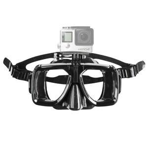 mantona Taucherbrille mit Befestigung für GoPro aus Silikon mit Zugband