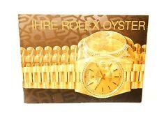FOLLETO De Oro Rolex Ostra Rolex Reloj suizo de texto