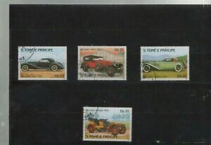 Automobile Historische S.Tome und E.Principe Hübscher Satz