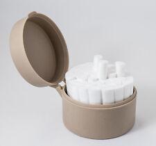Dental Round Cotton Roll Holder Organizer With Embedded Placement Pins Beige