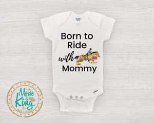 Horse Baby Onesie, Born to RIDE barrel racer Boy Clothes Baby Shower Gift Horse