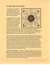 Book of Shadows Spell Pages ** Eight Sabbats of the Old Religion ** Wicca Witchc