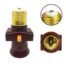 E27 Screw Base Light Holder Convert To Switch Lamp Bulb Socket Adapter 110-250V