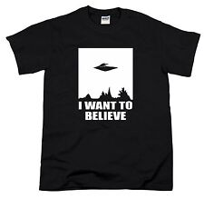 I Want To Believe Ufo X-Files Sci-Fi Alien UFO Inspired Science Gift Men T-Shirt