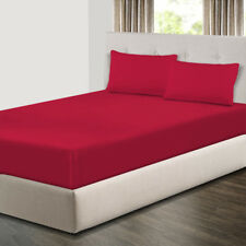 Extra Deep 20cm Fitted Sheets Bed Sheets & Pillow Cases Single Double King Size