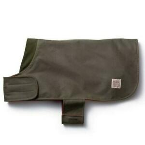 Filson Otter Green Shelter Cloth Dog Coat Reversible Water Repellent Size Small