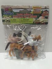 """10 Pieces Farm Animals Horse Pony Cow Calf Sheep Lamb Pig Approx 2"""" Plastic NIB"""