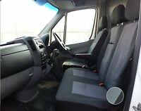 VW CRAFTER 2006+ PREMIUM FABRIC GREY-BLACK SEAT COVERS TAILORED TO FIT  RHD