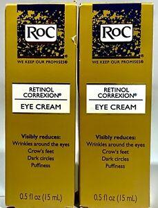 2 Pack- RoC Retinol Correxion Eye Cream 0.5 oz/15ML