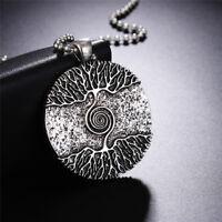 Argent de guérison arbre de vie Collier Pendentif amulette Talisman nordiquOPFR