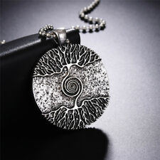 Silver Healing Tree of Life Necklace Pendant Amulet Talisman Nordic Tree 、LDQA