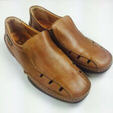 Mephisto Brown 8 Leather Cool-Air Breathable Casual Driving Mocs Loafer Slip Ons