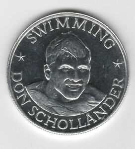 1971 Olympic Freestyle Swimmer DON SCHOLLANDER Top Performers Coin